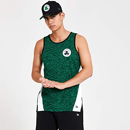 New Era Boston Celtics T Shirt/Tanktop NBA AOP Tank Green - S