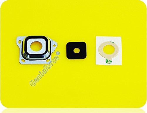 Kameralinse Set für Samsung Galaxy A3 SM-A300F A300F (2015) - SCHWARZ - Komplett 3-in-1 Set Kameralinse Glas + Rahmen + 3M Doppelseiter Klebestreifen - SCHWARZ BLACK - NEU ֎