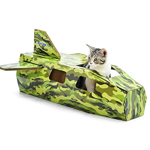 Tuzi Qiuge Haustierbedarf, Kreative Cat House, Nette kühle Kämpfer Katzenhaus Katzentoilette Corrugated Papier Cat Scratch Klaue Vorstand Grinding Spielzeug