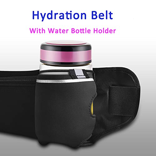 Double Pockets Running REALIKE Running Hydration Belt with Water Bottle holder