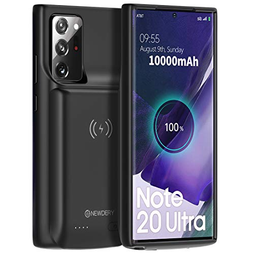 """NEWDERY Galaxy Note 20 Ultra Battery Case 10000mAh, Fast Charging & Qi Wireless & Android Auto & Samsung Dex Supported, Extended Backup Charger Case for Galaxy Note 20 Ultra 5G (6.9"""")"""