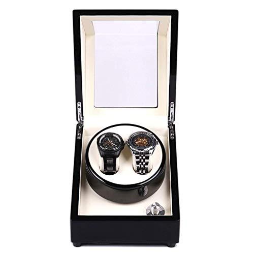 Y-longhair - Caja de relojes automáticos para el hogar, mini 2+0, ultra silenciosa, cuerda...