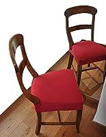 casa tessile antimacchia coppia di copri seduta per sedia - bordeaux
