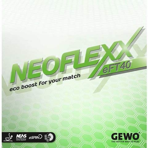 Find Bargain GEWO Neoflexx eFT 40 - Offensive Table Tennis Rubber, 1.9 mm Red