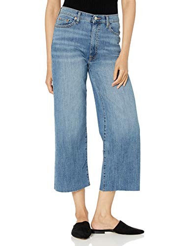 The Drop Women's Lizzy Cropped Wide Leg High-Waist Denim Jean
