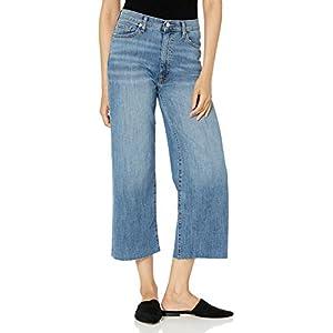 The Drop Women's Lizzy Cropped Wide Leg High-Waist Denim Jean