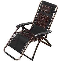 YLCJ Sillón reclinable Plegable Sillas de jardín Tumbona Cero Gravedad Dormir en casa Alforfón Concha Cuidado de la Salud