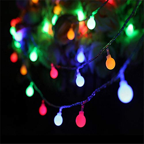 guirlande lumineuse led boule de vacances décoration lumières vacances noël maison lumières éclairage extérieur chaîne batterie multicolore 3m30 leds