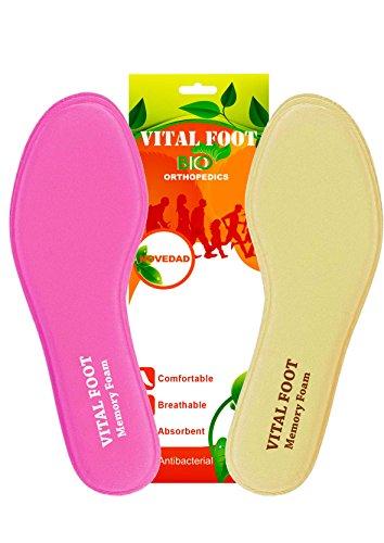VITAL FOOT - Plantillas Memory Foam Zapato Calzado Confort (37-38)