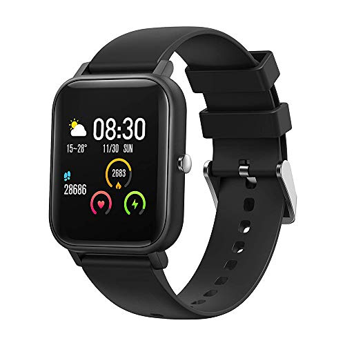 Smart watch Fitness Tracker, 1.4' Full Touch Screen Sports Watch, Activity Tracker with Sleep Monitor, Step Counter, Waterproof Pedometer Watch for Men Women Kids for IOS Android,Black