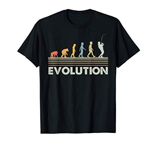 Vendimia pesca evolución regalo para pescador Camiseta