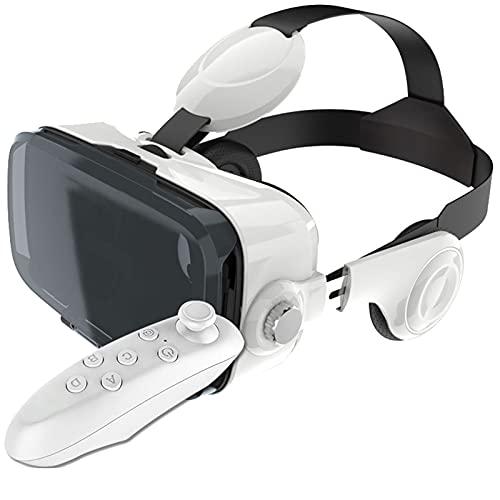 KANGLE-DERI Auriculares VR con Controlador, Gafas de Realidad Virtual Universal Gafas VR 3D para películas IMAX y Juegos de VR, para un teléfono.