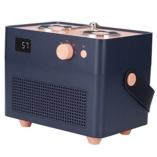 SZHWLKJ Azul 1.3L Retro humidificador de aire doble spray mini difusor pantalla digital inteligente humidificador USB carga