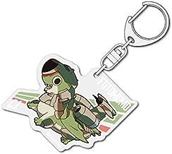 Dragon Pilot: Hisone and Masotan Glance it until its Tan Thighs Chibi ftmomocana acrylic key ring