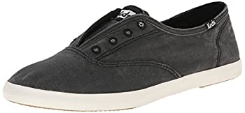 Keds Women s Chillax Washed Laceless Slip-On Sneaker,Charcoal,8 M US