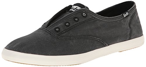 Keds Women's Chillax Washed Laceless Slip-On Sneaker,Charcoal,9 M US