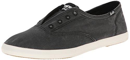 Keds - Zapatillas deportivas Chillax de mujer, sin cordones, efecto lavado., negro (Carbón), 7.5 B(M) US