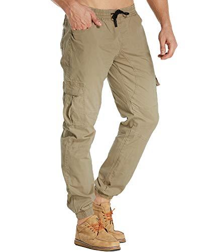 MODCHOK Herren Hosen Freizeithose Cargo Hosen Jogginghose Chino Hosen Sweatpants Regular Fit 1 Khaki M