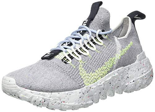 Nike Space Hippie 01, Zapatillas Deportivas Hombre, Grey Volt Glow Photon Dust, 38.5 EU