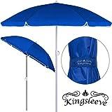 Kingsleeve Sonnenschirm höhenverstellbar | neigbar I UV-Schutz I 180cm 1kg leicht | wasserabweisend | Strandschirm Gartenschirm Balkonschirm