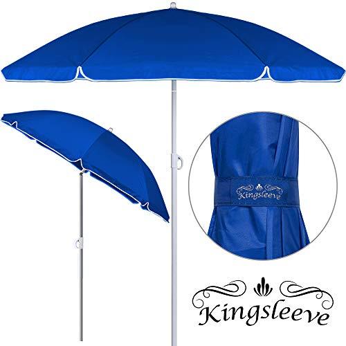 Kingsleeve Sonnenschirm höhenverstellbar | neigbar I UV-Schutz I 200cm 1kg leicht | wasserabweisend | Strandschirm Gartenschirm Balkonschirm