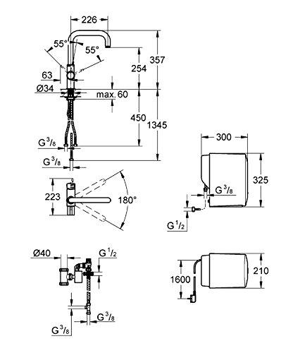 GROHE Red Duo Armatur und Single-Boiler (4 Liter), U-Auslauf, SuperSteel 30145DC0 - 2