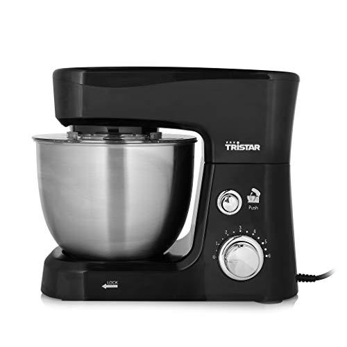 Tristar MX-4830 Küchenmaschine – 3,5 l Fassungsvermögen, 3 Zubehörteile, Schwarz