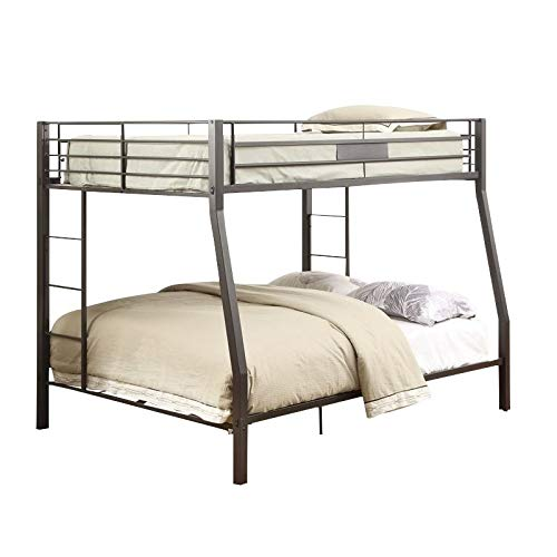 Acme Limbra Full XL Over Queen Bunk Bed in Black Sand