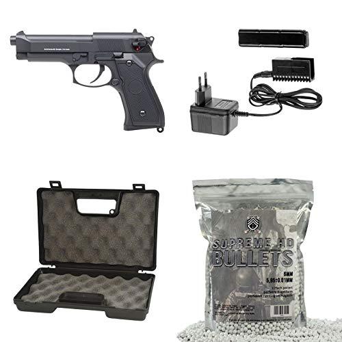 Cyma Softair - Pistole M92/ CM126 AEP + Waffenkoffer + 5000 Marken-BB's