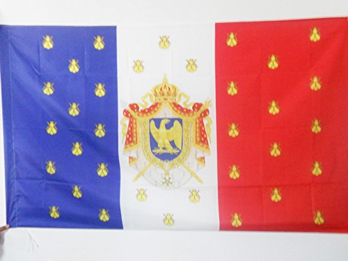 AZ FLAG Standard of Napoleon III of France Flag 3' x 5' for a Pole - Second French Empire Flags 90 x 150 cm - Banner 3x5 ft with Hole