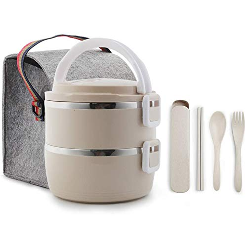 Geïsoleerd Verpakt Zak Plug-In Draagbare Elektrische Verwarming Koken Rijstkoker Met Rijstkoker Mini Elektrische Lunchbox Tot Drie Lagen Van Roestvrij Staal