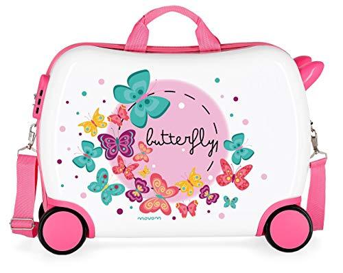 Movom Happy Time Valigia per bambini, 50 cm, Multicolore (Butterfly)