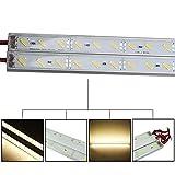 Tira de LED se ilumina Kit IP68 9W SMD 7020 36LED LED blanco cálido tira rígida Piscina DC 12V 50cm