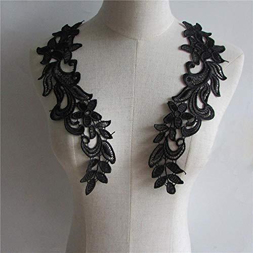 Hoge kwaliteit gloednieuwe borduurwerk applique hals hals Naaien accessoires DIY decoratie applique YL260 een paar te koop