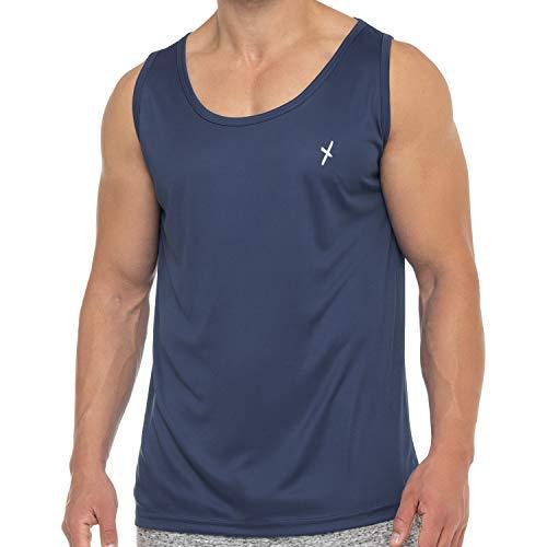 CFLEX Herren Sport Shirt Fitness Tanktop Sportswear Collection - Navy M