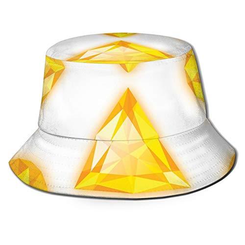 FULIYA Sommerhut für Fischer, Seemannsfahrer, gelb, verschiedene geometrische Formen, Marquise-Herzen und Birne