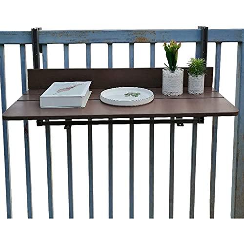 ZQKJLH Mesa de barandilla de balcón al Aire Libre, Mesa de Ordenador de Patio, Escritorio Plegable de elevación Ajustable, Mesa de Comedor pequeña para el hogar, Estante para Ordenador portátil