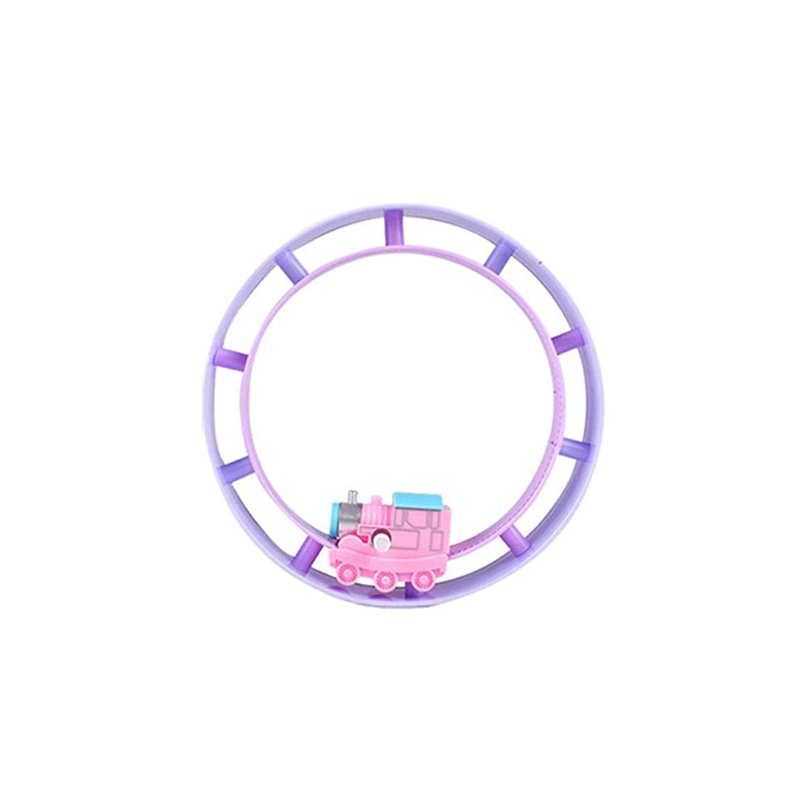 Clockwork Track Toy Round Track Rolling Car Winding Track Train Turn The knob and The Train Will Move Forward Car Funny Toy
