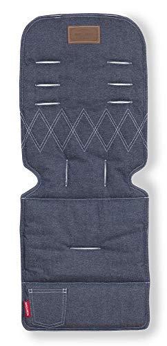 Maclaren, Colchoneta universal para sillas de paseo, reversible, lavable a máquina, Azul (Denim) 🔥
