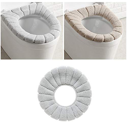 merymall 3PCS Imbottitura coprischiuma per WC, coprischiena Estraibile per Sedile con Coperchio Lavabile