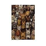 AMNF Póster de la Isla de los Perros en lienzo y arte de la pared, impresión moderna de 40 x 60 cm
