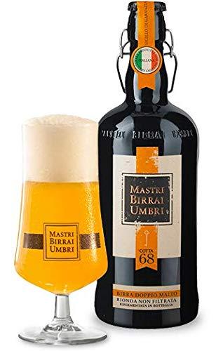 Birra artigianale cotta bionda non filtrata doppio malto Mastri Birrai Umbri 0,4 litri