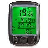 Wallfire Bicicleta Ordenador Impermeable Ciclismo cuentakilómetros velocímetro con retroiluminación LCD Ordenador de Bicicleta