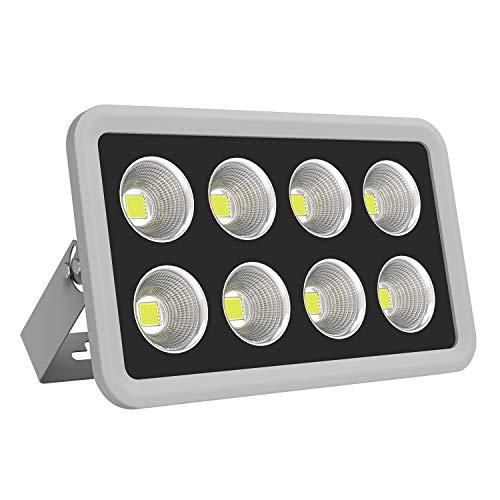 COB LED Flood Light, MORSEN 400W 40000LM Waterproof Outdoor Flood Light with 6500K Cool White Light for Garden,Playground,Warehouse, Billboard, Street-White