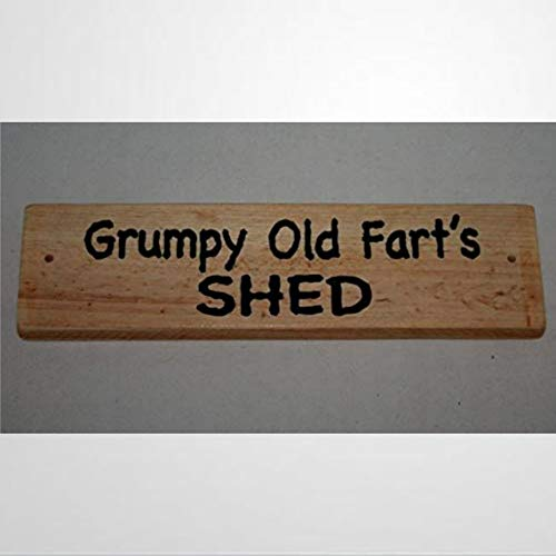 BYRON HOYLE Wooden sign Grumpy Old Farts SHED Personalised Your Name Print Outdoor Garage Door Wood Plaque Wall Art Funny wood sign wall hanger Home Decor