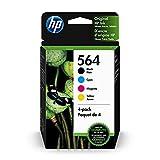 HP 564 | 4 Ink Cartridges | Black Cyan Magenta Yellow |...