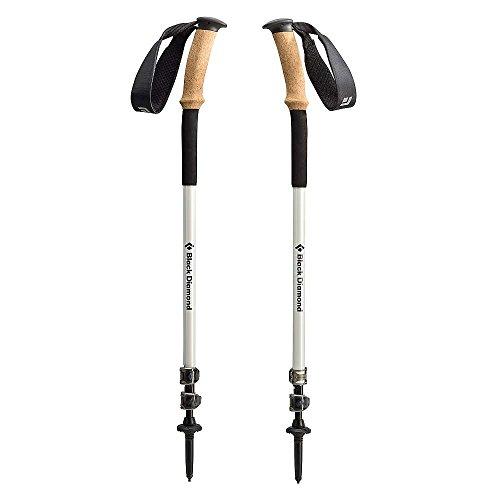 Black Diamond bâtons de trekking Alpine Ergo Cork - Bâtons de randonnée en carbone et en aluminium avec poignée inclinée en liège / 1 x 2 bâtons 130cm