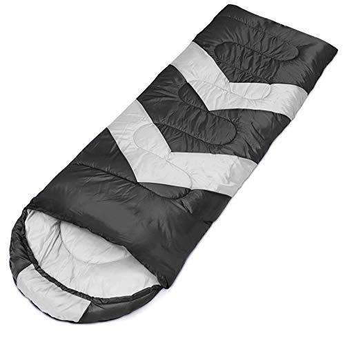 Sofore Sleeping Bags Waterproof Sleep Bag for Adults Kids, Portable with Compression, 4 Seasons Warm and Cold Weather Camping & Outdoors Black