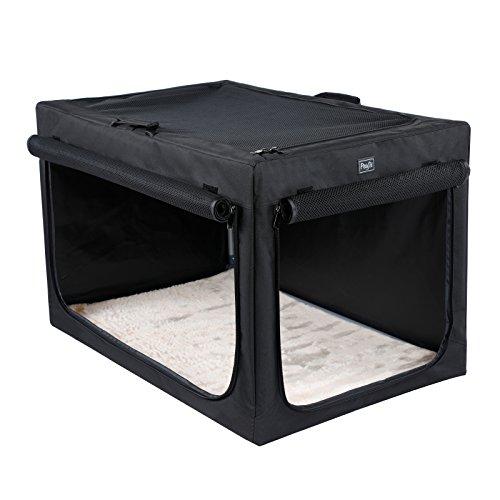 Petsfit Portable Soft Large Dog Crate Travle Dog Crate for Medium to Large Dog Soft Sided Pet Crate Black42 x 28' x 27'