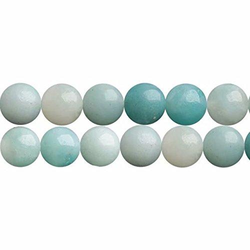 Natürliche Blau Amazonit Edelstein Runde Blau 8mm Perlen zum Auffädeln 38cm Strang Approx 46 Stück